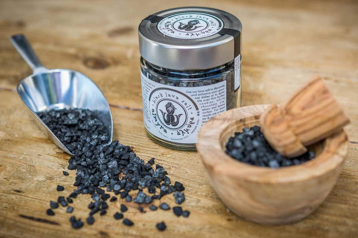 Almyra-Black-lava-Salt-jar