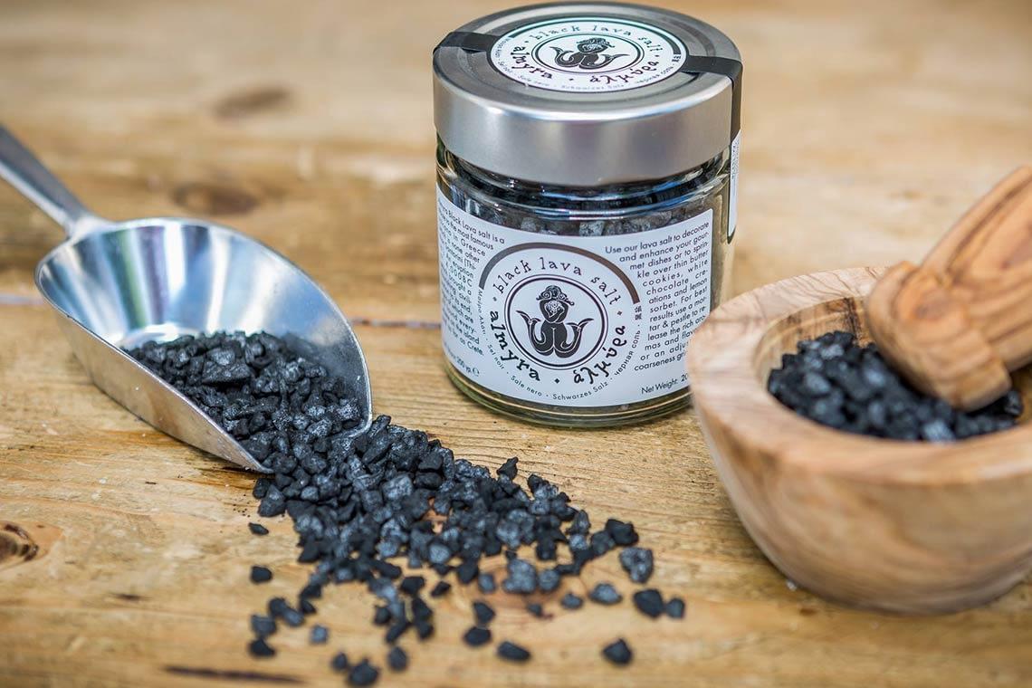 Almyra black lava salt